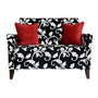 Amazon.com: angelo:HOME Sutton Loveseat Black and White Vine: Home &amp; Garden