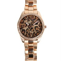 Leopard Gold Rhinestone Watch