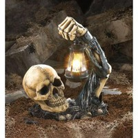 Amazon.com: Sinister Skull With Lantern Halloween Party Decoration: Home & Garden