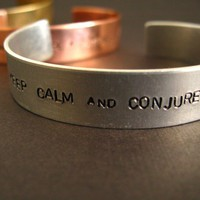 Keep Calm & Conjure a Patronus Cuff | Spiffing Jewelry