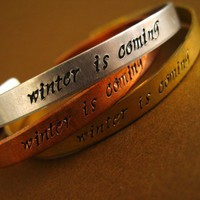 Winter is Coming Cuff Bracelet | Spiffing Jewelry