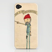 """THIS IS AN ADVENTURE."" - Zissou iPhone Case by Derek Eads 