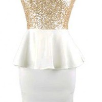 Sequin Peplum Dress