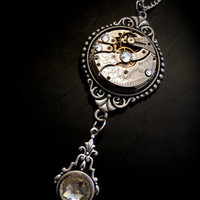 1890's Engraved Tick Tock Pendant  Necklace by Award by faefactory