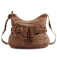 Buckle-Front Cross-Body Bag: Charlotte Russe