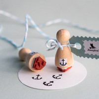 Anchor Mini  Rubber Stamp