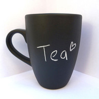 Chalkboard mug - custom mug - cute gift by BubbleAndMimi
