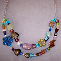 Necklace Double Strand Bead Soup
