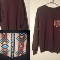 Tribal Print Crewneck