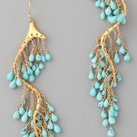 Alexis Bittar Gold Turquoise River Earrings | SHOPBOP