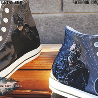 The Dark Knight Rises Batman / Bane Hand-Painted High Tops