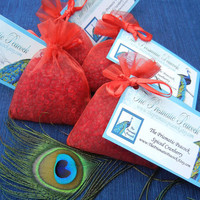 Spiced Cranberry Aroma Bead Sachet, Air Freshener, Favor