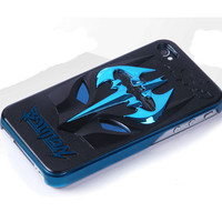 iPhone 4/4S Batman Pattern Plating Surface TPU Protect Guard on Luulla