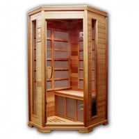 lifeSmart Corner 1 - 2 Person Ultimate Series Red Cedar Infrared Sauna with 5 Nano Carbon Heaters - TCU-GDY-250S-100 - Saunas - Bathroom Fixtures - Bed & Bath