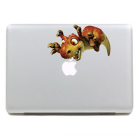 Macbook sticker Classical Color classic dinosaur  Mac Book Mac Book Air Mac Book Pro Mac Sticker Mac Decal Apple Decal Mac Decals