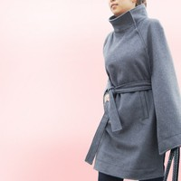 One Fine Day  cashmere poncho coat P1004 by idea2lifestyle on Etsy