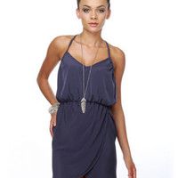Cute Navy Blue Dress - Blue Dress - $36.50