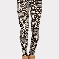 Tribal Print Leggings - Black at Necessary Clothing