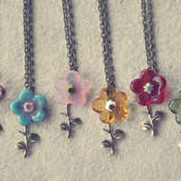 pick a wildflower necklace by bellehibou on Etsy