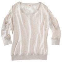 Mossimo Supply Co. Juniors Solid Lace Panel Sweater - Assorted Colors