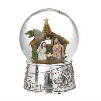 Reed & Barton Away in a Manger Christmas Snow Globe at Von Maur