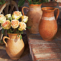 Anello Vintage Terracotta Jug - Fall Savings - Sale - NapaStyle