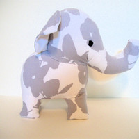 Elephant Plush Ecofriendly Gray- Lady Jane