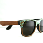 Sid&#x27;s Turquoise Faced Sunglasses Wayfarer // Sapele Wood and Turquoise Spring Eyewear