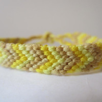 Chevron Braided Friendship Bracelet - Bright Yellow