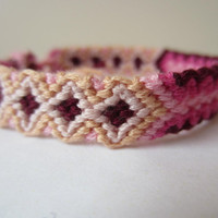 Braided Friendship Bracelet  - Pinks and Cream