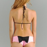 Lolli Swim Coral Bow Bottom As Seen on Kendall Jenner