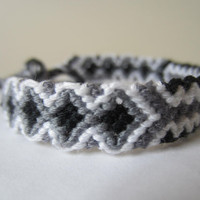 Braided Friendship Bracelet - Classic Black and White