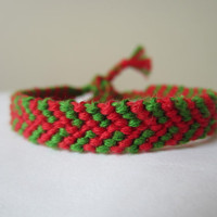 Christmas Color Braided Friendship Bracelet