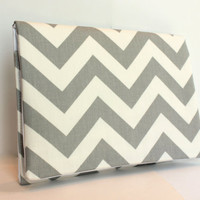 Chevron Clutch LIMITED EDITION Gray /White ZigZag