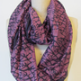 Handmade and Naturallly Dyed Cosmic Eggplant Silk Scarf