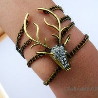 elk bracelet with bling bling crystals,Harry potter&#x27;s guard BE01