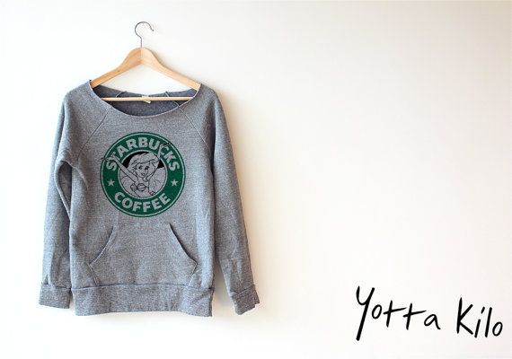 Women Crop Disney The Little Mermaid Starbucks Sweatshirt