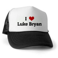 I Love Luke Bryan Trucker Hat on CafePress.com