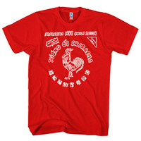Sriracha Hot Chili Sauce Red Shirt