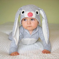 Bunny Rabbit Baby Onesuit Costume with Hat  Lil&#x27; by LilCreatures