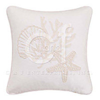 Seashell Rice Stitch Throw Pillow #2 | Atlantic Linens