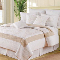Atlantic Shells Luxury Oversized Quilt | Atlantic Linens