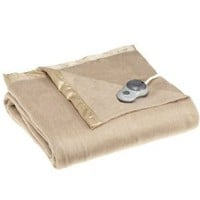 Amazon.com: Sunbeam Royal Nights Full Heated Blanket, Mushroom: Home & Kitchen