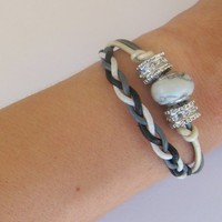 Cosy Line Beaded And Braided Bracel.. on Luulla