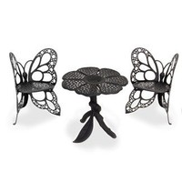 Flowerhouse Butterfly Bistro Set (Antique) | Wayfair