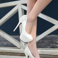 OASAP - Spikes Heel Chic Candy Platform Pumps - Street Fashion Store