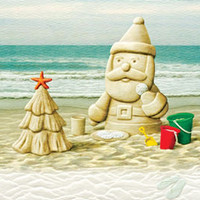Sandy Claus Embossed Christmas Cards | OceanStyles.com