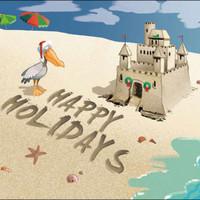 Happy Holidays Sand Castle Boxed Christmas Cards | OceanStyles.com