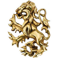 24k Gold Plated Sterling Silver Gryffindor Pin: WBshop.com - The Official Online Store of Warner Bros. Studios
