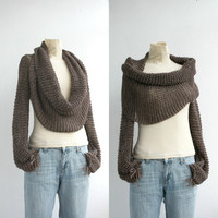 FREE Shipping New Season  Brown  Wrap Bolero Scarf Shawl Neckwarmer gift for Women Girl Mom Christmas Gift